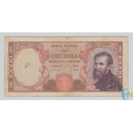 Italia - 10000 Lire Michelangelo 08.06.1970