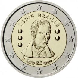 Belgio 2009 - 2 euro commemorativo 200° anniversario dalla nascita di Louis Braille