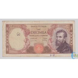 Italia - 10000 Lire Michelangelo 20.05.1966 mb