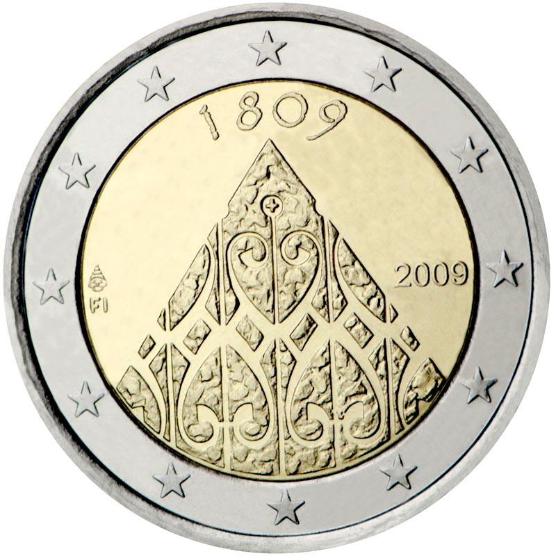 Finlandia 2009 - 2 euro commemorativo 200° anniversario dalla fine della Guerra Finlandese