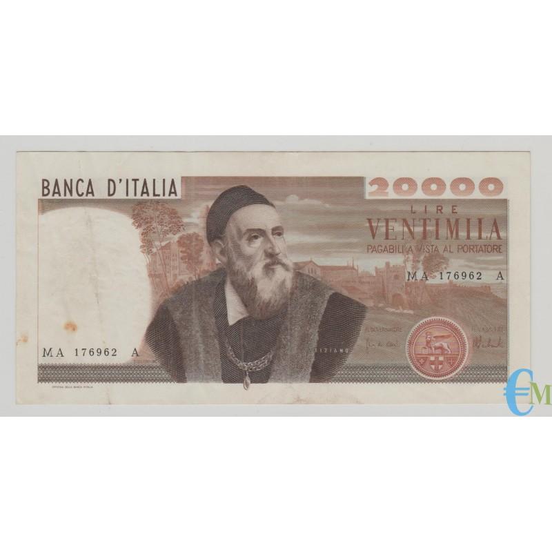 Italia - 20000 Lire Tiziano 21.02.1975 bb