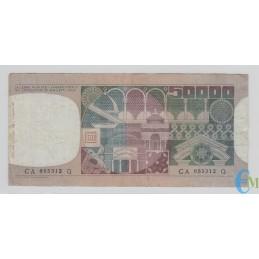 Italia - 50000 Lire volto di Donna 23.10.1978 rovescio