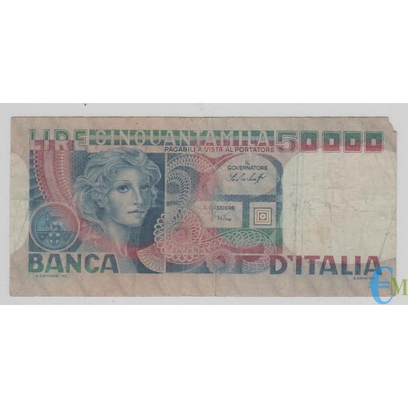 Italia - 50000 Lire volto di Donna 20.06.1977 mb
