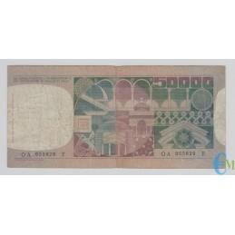 Italia - 50000 Lire volto di Donna 20.06.1977 rovescio
