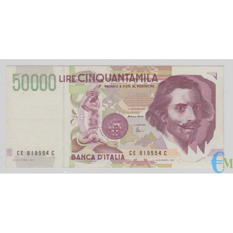 Italia - 50000 Lire Bernini 2° tipo E 24.06.1999