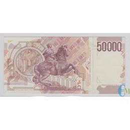 Italia - 50000 Lire Bernini 2° tipo E 24.06.1999 rovescio