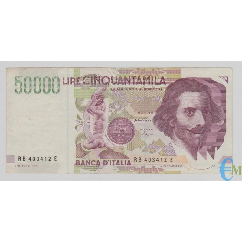 Italia - 50000 Lire Bernini 2° tipo B 09.12.1992