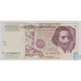 Italia - 50000 Lire Bernini 2° tipo C 16.10.1995