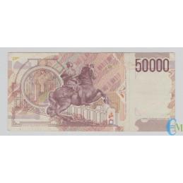 Italia - 50000 Lire Bernini 2° tipo C 16.10.1995 retro