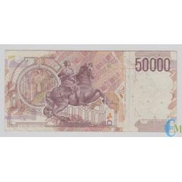 Italia - 50000 Lire Bernini 2° tipo B 09.12.1992 rovescio