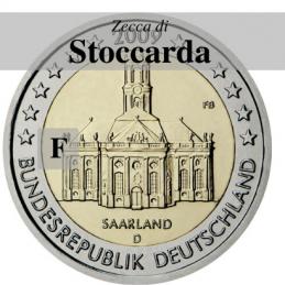 Germania 2009 - 2 euro commemorativo Ludwigskirdhe a Saarbrucken - zecca di Stoccarda F
