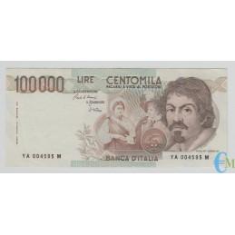 Italia - 100000 Lire Caravaggio 1° tipo A 25.10.1983