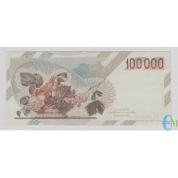 Italia - 100000 Lire Caravaggio 1° tipo A 25.10.1983 rovescio
