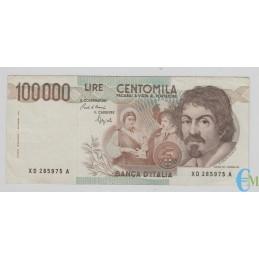 Italia - 100000 Lire Caravaggio 1° tipo XD 25.01.1993