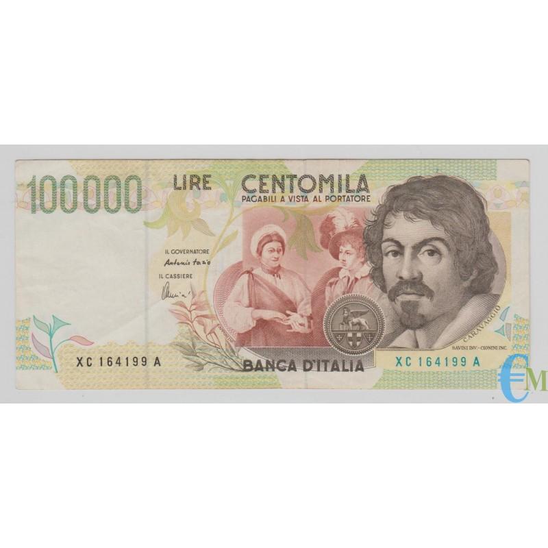 Italia - 100000 Lire Caravaggio 2° tipo XC 01.12.1997