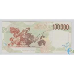 Italia - 100000 Lire Caravaggio 2° tipo C 18.12.1995 rovescio