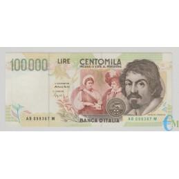 Italia - 100000 Lire Caravaggio 2° tipo B 27.02.1995