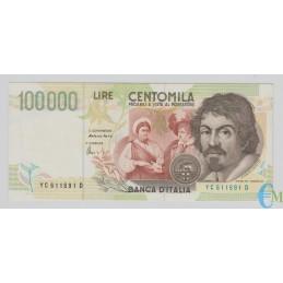 Italia - 100000 Lire Caravaggio 2° tipo C 18.12.1995