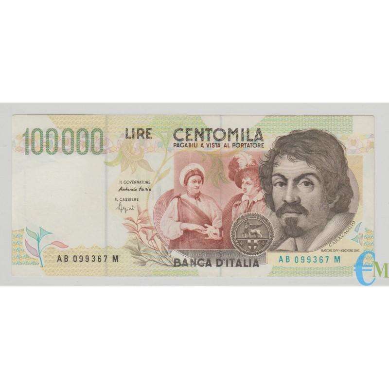 Italia - 100000 Lire Caravaggio 2° tipo A 12.05.1994