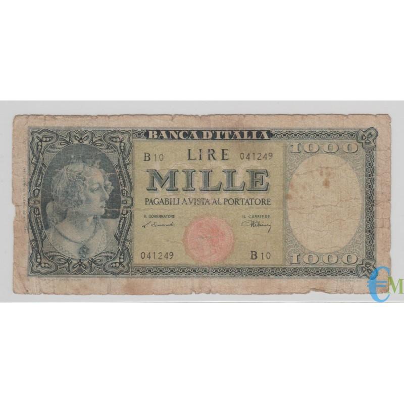Italia - 1000 Lire Italia Ornata di Perle Testina 20.03.1947