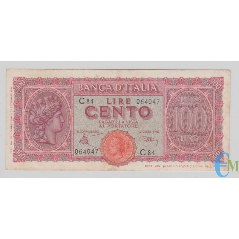 Italia - 100 Lire Italia Turrita Testina 10.12.1944