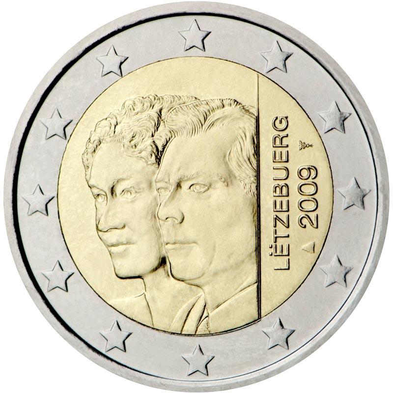 Lussemburgo 2009 - 2 euro commemorativo 90° anniversario dell'ascesa al trono della Granduchessa Carlotta