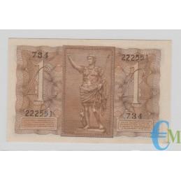 Italia - 1 Lira Biglietto di Stato Fascio 14.11.1939 rovescio