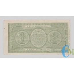 Italia - 1 Lira Biglietto di Stato Luogotenenza Umberto 23.11.1944 rovescio
