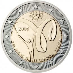 Portogallo 2009 - 2 euro commemorativo 2° edizione dei giochi di Lusofonia a Lisbona