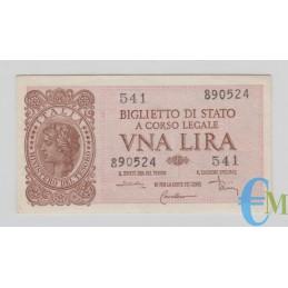 Italia - 1 Lira Biglietto di Stato Luogotenenza Umberto 23.11.1944 spl