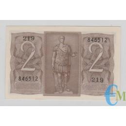 Italia - 2 Lire Biglietto di Stato Fascio 14.11.1939 rovescio