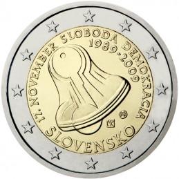 Slovacchia 2009 - 2 euro commemorativo 20° anniversario della Rivoluzione di velluto.