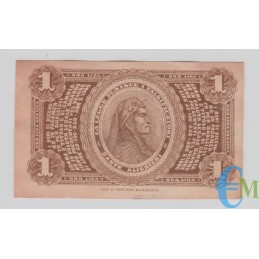 Italia - 1 Lira Banca Toscana di Anticipazioni e Sconto Firenze 24.04.1870 rovescio