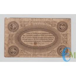 Italia - 50 Centesimi Banca Toscana di Anticipazioni e Sconto 24.04.1870