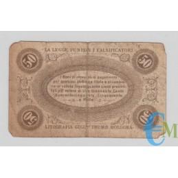 Italia - 50 Centesimi Banca Toscana di Anticipazioni e Sconto 24.04.1870 rovescio