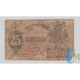 Italia - 25 Centesimi Biglietto Fiduciario Banca Popolare Operaia di Roma 1872