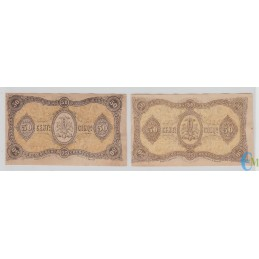 Italia -Lotto serie A e B 50 Centesimi Banca Toscana di Anticipazioni e di Sconto Firenze 1870 retro