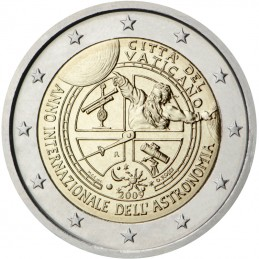 Vaticano 2009 - 2 euro commemorativo anno internazionale dell'astronomia.