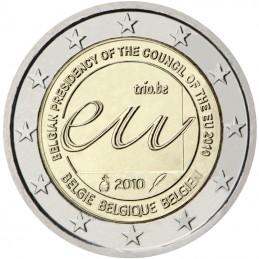 Belgique 2010 - 2 euros Présidence belge de l'UE Conseil de l'Europe