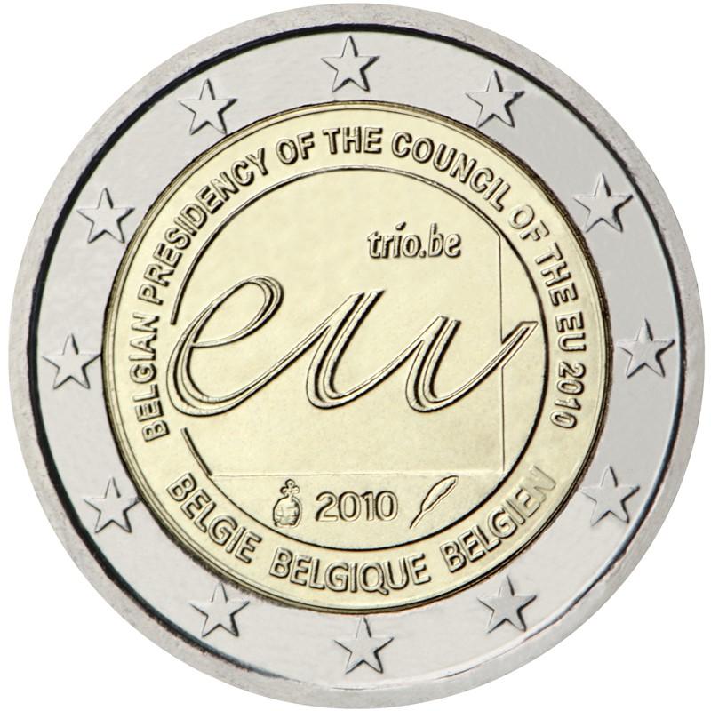 Belgio 2010 - 2 euro commemorativo Presidenza del Consiglio dell'Unione europea del Belgio.