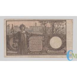Italia - 5 Lire Biglietto di Stato Vittorio Emanuele III 05.11.1914 bb rovescio