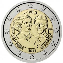 Bélgica 2011 - 2 euros conmemorativos del centenario del día internacional de la mujer.