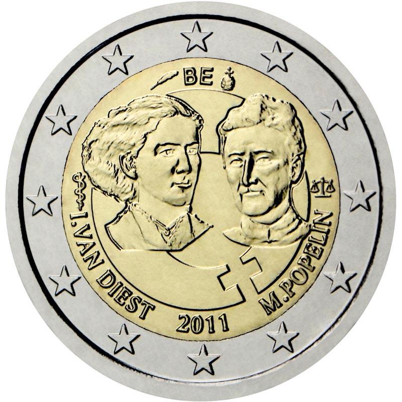 Belgio 2011 - 2 euro commemorativo 100° anniversario della giornata internazionale della donna.