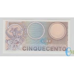 Italia - 500 Lire Biglietto di Stato Mercurio 02.04.1979 rovescio