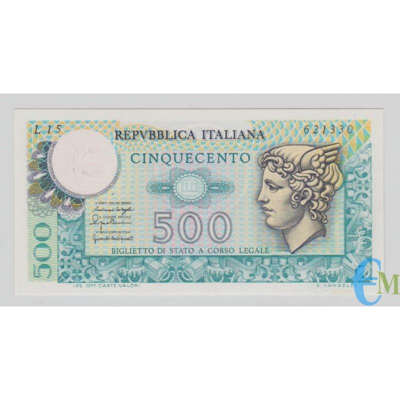 Italia - 500 Lire Biglietto di Stato Mercurio 20.12.1976