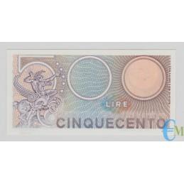 Italia - 500 Lire Biglietto di Stato Mercurio 20.12.1976 rovescio