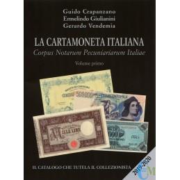 CATALOGO BANCONOTE LA CARTAMONETA ITALIANA 2019/20 VOLUME PRIMO CRAPANZANO