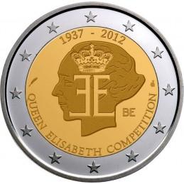 Belgio 2012 - 2 euro commemorativo 75° anniversario competizione musicale della regina Elisabetta.