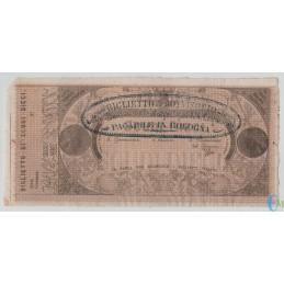 Italia - 10 Scudi Biglietto Provvisorio Banca Pontificia per le Quattro Legazioni FDS