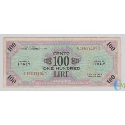 Italia - 100 AM Lire One Hundred Lire Bilingue FLC A-C 1943 A